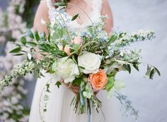 cascading wedding bouquet idea