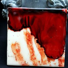 Dexter Inspired Blood Spatter Ceramic Coaster by uncommoncoasters, $20.00