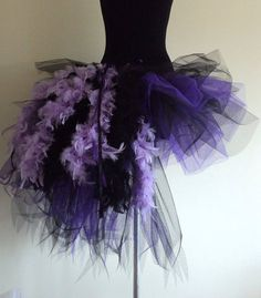 Purple Black Burlesque tutu skirt size 4 10 U.S. by thetutustoreuk