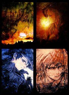 Hiroyuki Asada's İllustrations Manga Art, Monochrome, Character Design, Portraits, Snow, Orange, Awesome, Illustration, Monochrome Painting