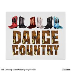 TEE Country Line Dance Poster