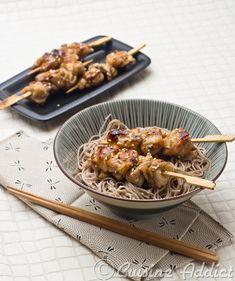 Brochettes de Poulet grillé à la Japonaise / Grilled Chicken Skewers Japanese way