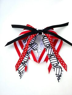 Red and black volleyball pony o, ponytail holder ribbon streamers, grosgrain ribbon hair tie, school team spirit, volleyball player gift Volleyball Hair Bows, Volleyball Hairstyles, Sport Hairstyles, Volleyball Party, Softball, Volleyball Training, Coaching Volleyball, Volleyball Players, Volleyball Drills