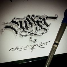 """'Suffer' #calligraphy #calligraphymasters #calligraffiti #handmade #handwriting #freehand #fraktur #lefthand #gothic #lettering #typism #script #art…"""