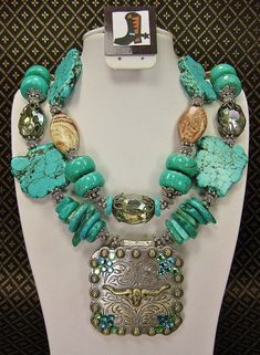 Cowgirl Western Necklace with Longhorn Concho Pendant