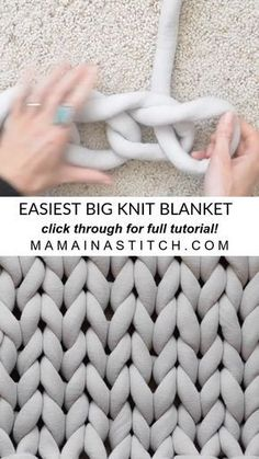 How To Easily Knit A Big Yarn Blanket
