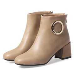 a17436fa6ed1 KingRover Women s Fashion Dressy Chunky Heel Zip Up Block Heel Ankle Boots  Square Toe Ornamented Booties Shoes With Zipper     Continue to the product  at ...