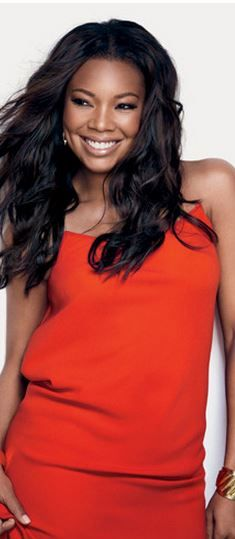 Who made Gabrielle Union's orange dress