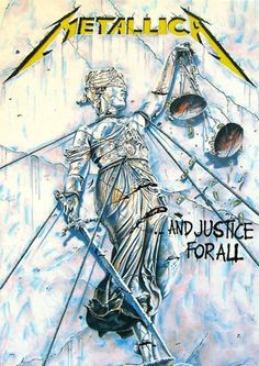 The only thing soft about this poster is the material it was made from. This 30 X 40 Metallica fabric poster features album artwork from their fourth studio album, .And Justice For All. Art Metallica, Metallica Albums, Metallica Tattoo, Rock Posters, Band Posters, Concert Posters, Guitar Posters, Heavy Metal Art, Heavy Metal Bands