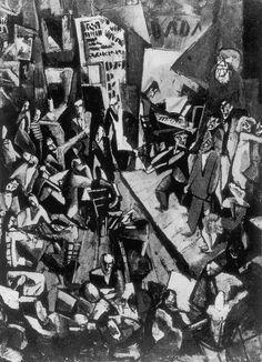 """Anonyme, Photographie de """"Cabaret Voltaire"""" (1916) de Marcel Janco, oeuvre disparue, s.d."""