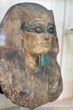 https://flic.kr/p/HmSu3N | Funerary of King Hor I | the funerary mask of king Hor Auibre. It was found in his tomb. The wooden funerary mask, had its eyes of stones set in bronze, had been stripped of its gold gilding but still held the king's skull. 13th dynasty, from Dashur. CG28107 Upper floor, gallery 42 Cairo Museum