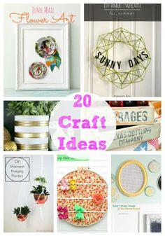 20 awesome craft ideas to make on iheartnaptime.com