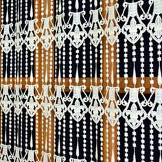 Beautiful and original French Macrame Lace Curtain : Fleur de lys. Direct from French manufacturer, expert in lacemaking since Cafe Curtains, Valance Curtains, Lace Valances, Macrame Curtain, Lacemaking, Diamond Earrings, Lily, French, Flower