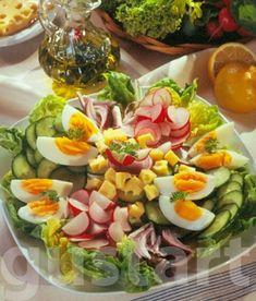 Lajos Mari konyhája - Tojásos-sajtos gazdag saláta