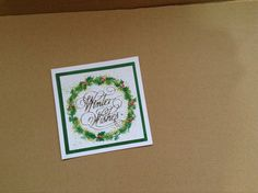 5x5 card stamped with cardio stamps,tattered lace winter wishes die and Nuvo drops
