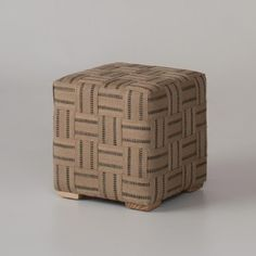 Taped Jute Ottoman - contemporary - ottomans and cubes - by Schoolhouse Electric