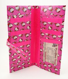 Pink Hello Kitty Duct Tape Clutch Women's Wallet by PyrateWench @Mary Cook