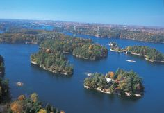 aerial of Thousand Islands