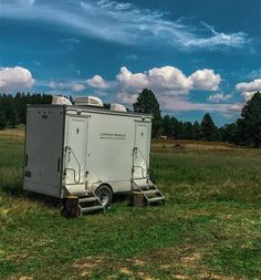 Luxury Restroom Trailer For A Ranch Wedding. LTD Portable Restrooms