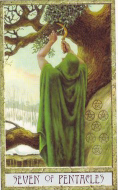 seven of pentacles - druidcraft tarot