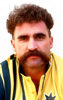 Mustaches can often be iconic embodiments of male vigor and vitality. When a celebrity becomes identified with his unique facial hair, he might take lengths to protect his earning potential if they are intertwined. Australian cricketer Merv Hughes did just that, insuring his 'stache for $370,000. Do you know anyone that would insure their mustache? #insurance #funfacts #mustaches