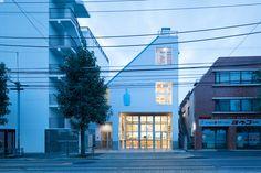 Blue Bottle Coffee Nakameguro Cafe in Tokyo by Schemata Architects.