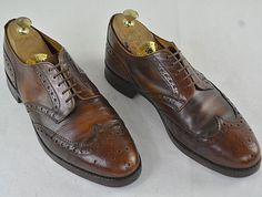 CHEANEY by Church's Vintage Brogues brown 44 G 29 cm Nice Patina Scarpa Pelle  #Cheaney #Brogues Men Dress, Dress Shoes, Good Looking Men, Brogues, How To Look Better, Oxford Shoes, Lace Up, Nice, Brown