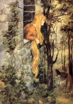 Anonymous illustration of Rapunzel