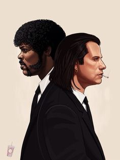 Pulp Fiction Fan Art by Mike Mitchell