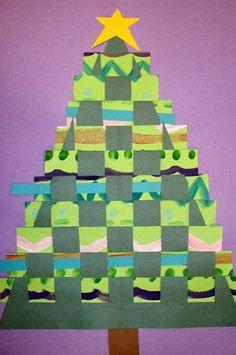 Artsonia Art Museum :: Artwork by Christmas Art Projects, Christmas Tree Art, Winter Art Projects, Xmas Crafts, Christmas Decor, First Grade Art, 4th Grade Art, Arte Elemental, Paper Weaving