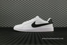 4e33b49942383 Nike Court Royale Sl 844802 100 White Black Blanc Noir Running Shoes Top  Deals