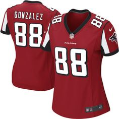 Nike Tony Gonzalez Atlanta Falcons Women s Game Jersey – Red Atlanta  Falcons T Shirt cb18a249f