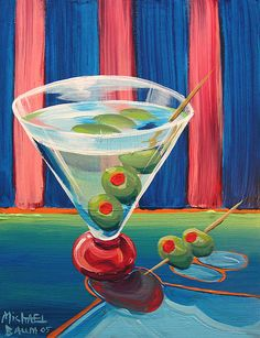 """Double Dirty Martini""  #painting"