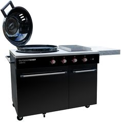 Buy the Outdoor Chef Lugano Gas Barbecue today! Lugano, Kettle Bbq, Grill Area, Stainless Steel Grill, Buxus, Gas Bbq, Healthy Grilling, Lighting System, Wow Products