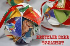 Make it: Recycled Card Ornament