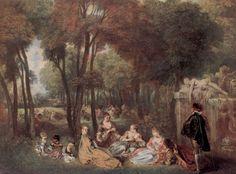 "Jean Antoine Watteau ""Les Champs Elysées"" (The Elysian Realm) Francisco Goya, New Artists, Great Artists, Matisse, Jean Antoine Watteau, Nogent Sur Marne, Renoir, Jean Baptiste, Louis Xiv"