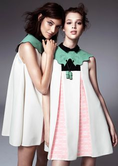 hm fashion minju kim1 Anais Pouilot & Hanneli Mustaparta Wear the 2013 H&M Design Award Winners Collection