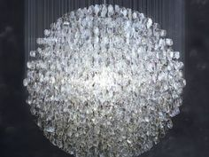 Thousands of old reading lenses now a chandelier...