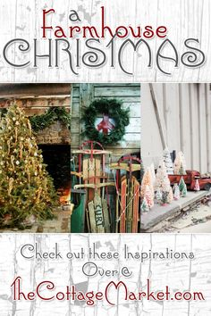 A Farmhouse Christmas Inspiration @ The Cottage Market Merry Little Christmas, Christmas Love, Country Christmas, Winter Christmas, All Things Christmas, Vintage Christmas, Cabin Christmas, Christmas Kitchen, Elegant Christmas