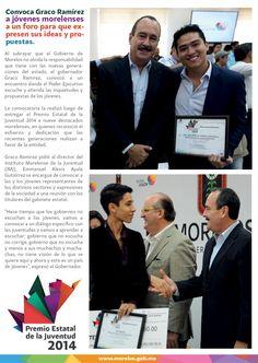 Convoca Graco Ramírez a jóvenes morelenses a un foro para que expresen sus ideas y propuestas.