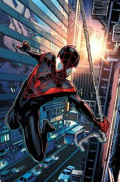 Miles Morales, the new official Spider-Man. Because SPOILER, we all know what happened to Peter.