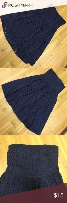 Navy Blue Strapless Dress Navy Blue Strapless Dress zipper on the side Dresses Strapless