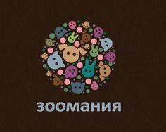 Puzzle pattern logo design: Zoomaniya