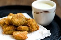 Healthy fried pickles! | I thought these were so weird till I finally tried them!