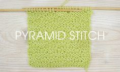 How To Knit: The Pyramid Stitch - Deramores