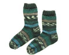 Thin knitted wool socks, Knit Unique socks, Winter wool socks, House socks, gift for mom, green, Cozy ankle socks, Knit footwear, Art socks (scheduled via http://www.tailwindapp.com?utm_source=pinterest&utm_medium=twpin)