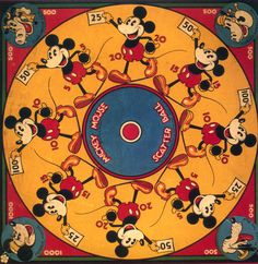 Mickey Mouse Scatter Ball Game (Marks Brothers, Interesting game involving a wooden top and plying - Available at Sunday Internet Comics Auction. Disney Mickey Mouse, Mickey Mouse Toys, Arte Disney, Disney Toys, Disney Magic, Disney Movies, Disney Characters, Disney Princess Facts, Disney Facts