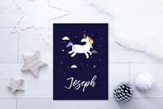 personalised unicorn poster print
