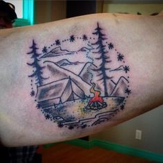 camping tattoo - Google Search