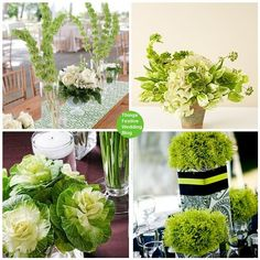 These beautiful Irish wedding centerpieces will turn your reception tables into a lavish landscape of green.